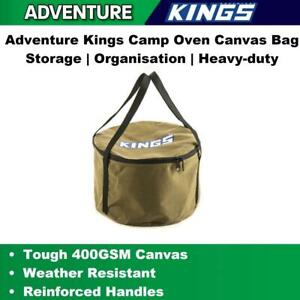 Canvas-Camp-Oven-Bag-Iron-Pot-Camping-Storage-amp-Carry-Bag-With-Handle-Cookware