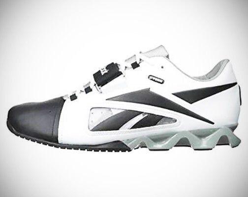Nuevo Para hombres Reebok Crossfit U-forma levantador de zapato blancooo negro y gris Talla 8 EU 40.5