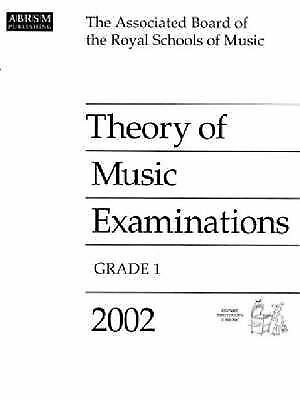 Theory of Music Examinations: 2002: Grade 1 by Associated Board of the Royal Sc…