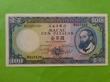 Macau (Macao) BNU 1984 100 Patacas (XF), Free Pos Laju