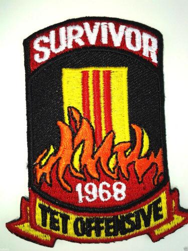 **SURVIVOR 1968 TET OFFENSIVE** Military Vietnam Veteran Biker Patch PM0391 EE