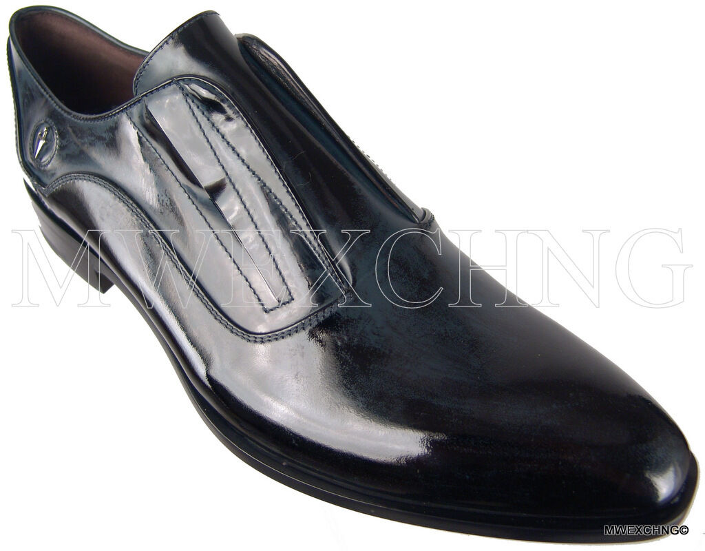 Authentique  845 Cesare Paciotti cuir mocassins US 8.5 Italian Designer chaussures
