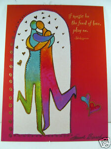 laurel burch anniversary card if music be the food of love dance on