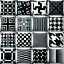 EE-QA-Nero-e-Bianco-Motivo-Geometrico-Cuscino-Federa-Copri-Divano-Arredamento-N miniatura 1