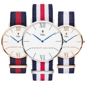 Reloj-hombre-mujer-TWIG-HARING-plata-oro-rosa-clasico-vintage
