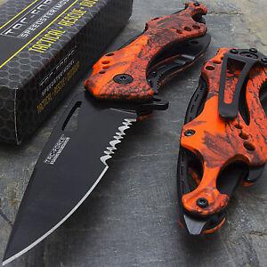 "8"" TAC FORCE SPRING ASSISTED TACTICAL FOLDING KNIFE Blade Assist Pocket Open Red"