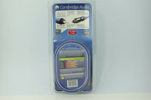 0.75M ; NEW; 50/% Off Cambridge Audio DIG 300 Toslink Optical Digital Cable