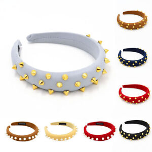 Elastic-cloth-women-headband-with-pearls-rivet-hair-band-hoop-girls-wash-face