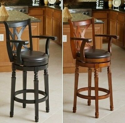 Miraculous Cherry Black Swivel Barstools Bar Stools Kitchen Chair Leather Barstool Chairs Ebay Squirreltailoven Fun Painted Chair Ideas Images Squirreltailovenorg