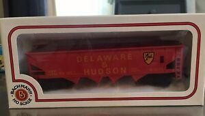 HO-Scale-BACHMANN-TRAIN-CAR-DELAWARE-AND-HUDSON-4-Bay-Hopper-D-amp-H-12312
