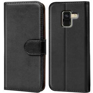 Book Case für Samsung Galaxy A8 2018 Hülle Tasche Flip Cover Handy Schutz Hülle