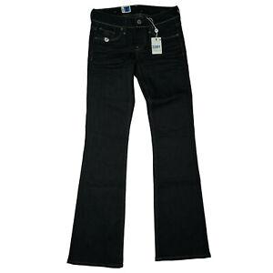 G-STAR 3301 Bootleg Wmn Damen Jeans Stretch Schlag Hose Flare W27 L32 Blau NEU