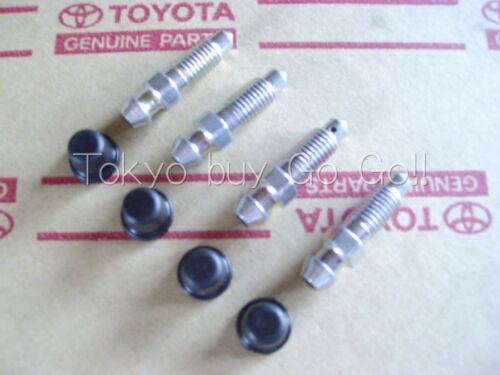 Toyota Corolla CP Coupe AE86 Brake Bleeder Plug /& Cap set NEW Genuine OEM Parts