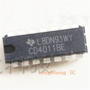 100-PCS-CD4011BE-DIP-14-CD4011-CMOS-NAND-GATES-new