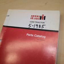 Case Ih International 1294 Tractor Parts Manual Book Spare Catalog Farm 1985 Oem