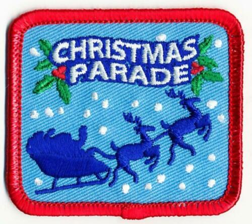 Girl Boy Cub Holiday CHRISTMAS PARADE SANTA Fun Patches Crest Badges SCOUT GUIDE
