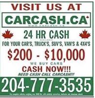 Were always open CASH for SCRAP JUNK Cars MOST CASH PAID