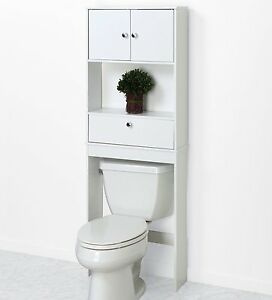 Image Is Loading Over The Toilet Cabinet Bathroom Storage Wood Space