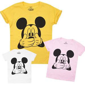 Disney-Mickey-Mouse-riendo-Girls-oficial-con-licencia-t-shirts