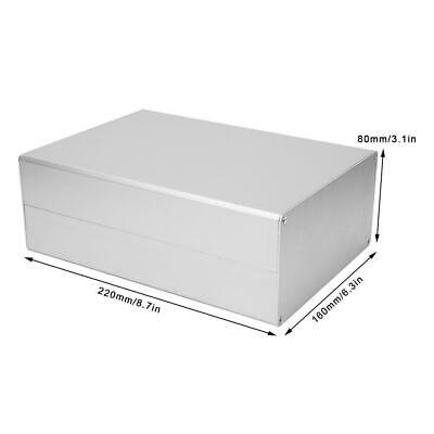Custodia per Prodotti Elettronici Fai-Da-Te 50x178x220mm Scatola di Progetto in Alluminio Custodia Nera Opaca Spessore Scatola di Alluminio 1,25-1,5 mm