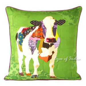 18 Colorful Cow Decorative Throw Sofa Cushion Couch Pillow Cover Case Bohemian Ebay