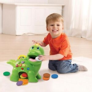 Vtech-Feed-Me-Dino-Dinosaur-Toddler-Preschool-Toy-With-Sounds-8-Discs-VGC