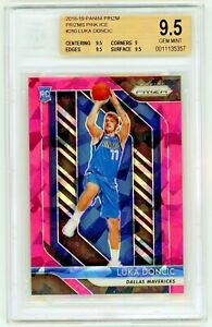 LUKA-DONCIC-2018-19-Panini-Prizm-Pink-Ice-Rookie-Card-RC-BGS-9-5-Gem-Mint-280