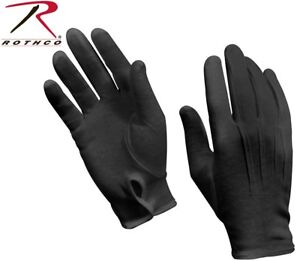 Black Military Cotton Dress Gloves Band Gloves Parade Gloves Waiter ... ae46edf48fc
