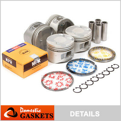 90-95 Toyota MR2 Celica 2.0L Turbo DOHC Pistons&Rings Set 3SGTE