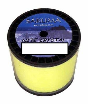 BULK 1//2 KG Spool Sakuma Nite Crystal Fishing Line
