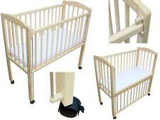 Beistellbett / Kinderbett 90x40 cm + Matratze und Rädern kiefer höhenverstellbar
