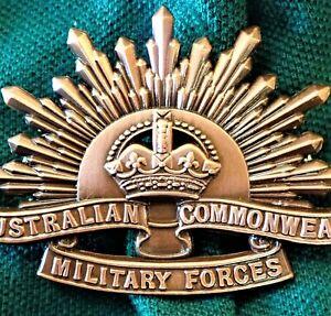 AUSTRALIAN-ANZAC-WW1-amp-WW2-RISING-SUN-UNIFORM-HAT-OR-CAP-BADGE-MEDAL-REPLICA