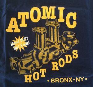 Atomic-Hot-Rod-Speed-Shop-Shirt-Medium-Chev-Ford-Harley-Triumph