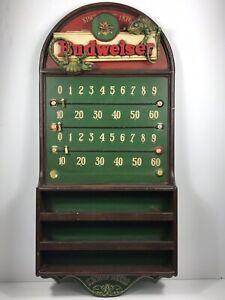 Vintage Budweiser Beer Pool Table Scorecard Chameleons