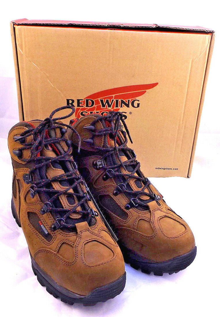 "NIB RED WING 6674 Size 9 D  Aluminum Toe Uomo's 6"" Hiker Work Stivali RETAIL  219"
