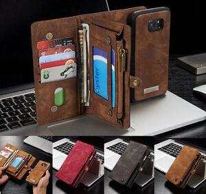 Leder-Multifunktion-Wallet-Case-Handy-Tasche-Schutz-Hulle-Cover-Bumper-Etui