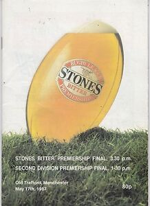STONES-BITTER-PREMIERSHIP-amp-2ND-DIVISION-FINAL-OLD-TRAFFORD-MANCHESTER-17-5-87