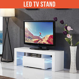 BN-130cm-Modern-TV-Unit-Cabinet-Stand-High-Gloss-White-with-FREE-LED-RGB
