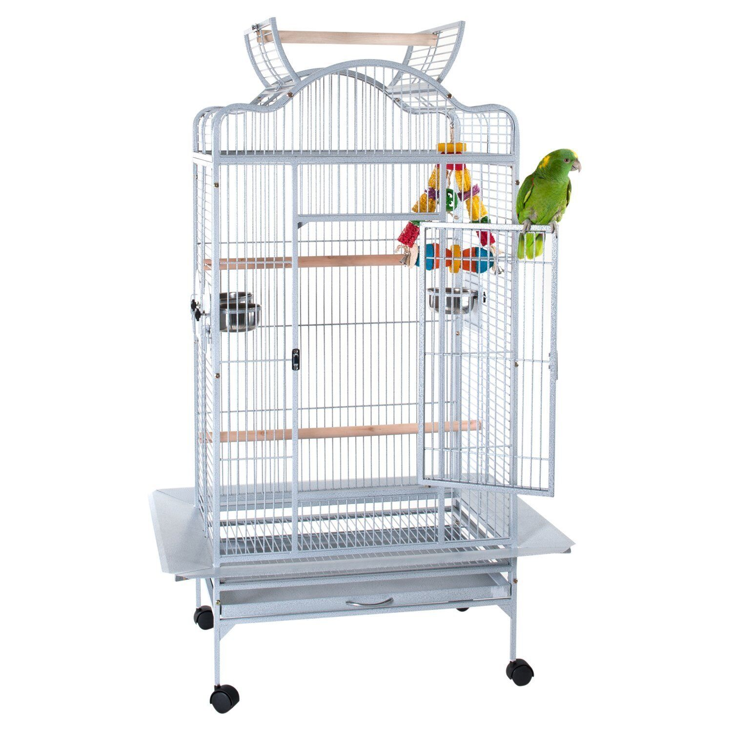 LIBERTA VOYAGER STONE WHITE LARGE CAGE FOR MEDIUM PARredS AFRICAN GREY AMAZONS