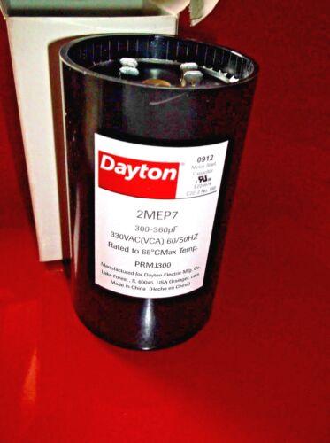 300-360 MFD Round 330VA New In Box DAYTON 2MEP7 Motor Start Capacitor VCA