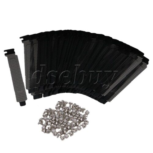 PVC Dust Filter Blanking Plate PCI Slot Cover for Standard Case Set of 100