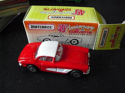 1964 Grand Sport Blue Open MJ7 Matchbox 1993 Corvette 40th Anniversary