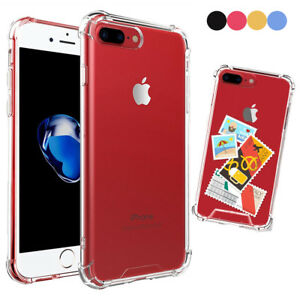 For-iPhone-7-8-Plus-Crystal-Clear-Soft-TPU-Shockproof-Bumper-PC-Hard-Back-Case