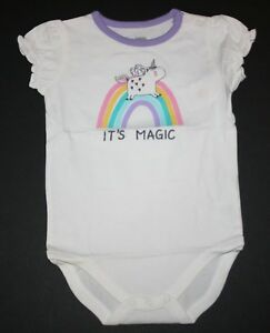 New-Gymboree-Girls-It-039-s-Magic-Unicorn-Bodysuit-Top-NWT-3M-6M-12M-18M-24M
