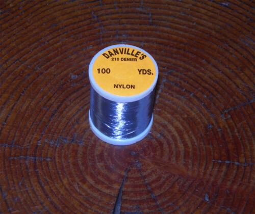 1 spool  Danville fly tying nylon floss grey 210 denier 100 yd spl