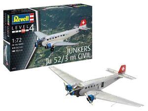 Revell-04975-Junkers-Ju52-3m-Civil-1-72-Plastic-Model-Kit