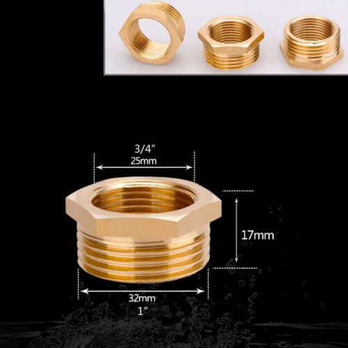 """3//8/"""" 1//2/"""" 1/"""" Female Male BSP Coupler Connector Fitting Pipe Reducing Adapter"""