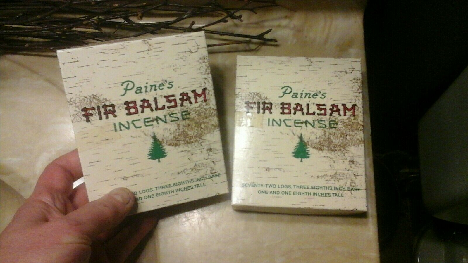 70 Sticks Refill Paines Balsam Fir Incense Two Inches Long Paine/'s