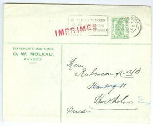 Belgium Printed Matter To Sweden 1950 Arr Canc Ebay