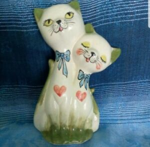 1970s-Vintage-Antique-Retro-Lover-Cats-Ornament-Model-Home-Decor